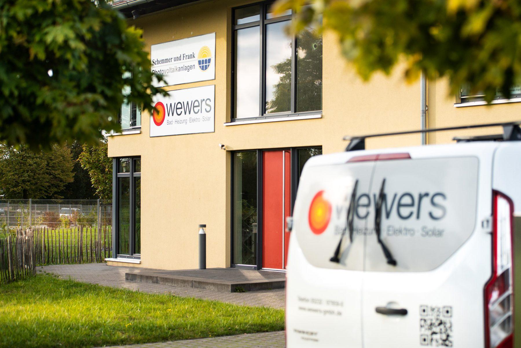 Eingang der wewers GmbH