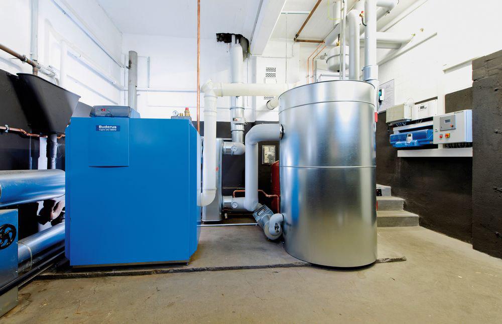Luft-Wasser-Gas-Absorptions-Wärmepumpe Logatherm GWPL der Astrid-Lindgren-Schule in Bottrop