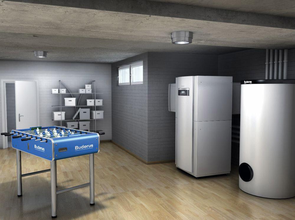 Luft-Wasser-Wärmepumpe Logatherm WPL IK/I mit Warmwasserspeicher
