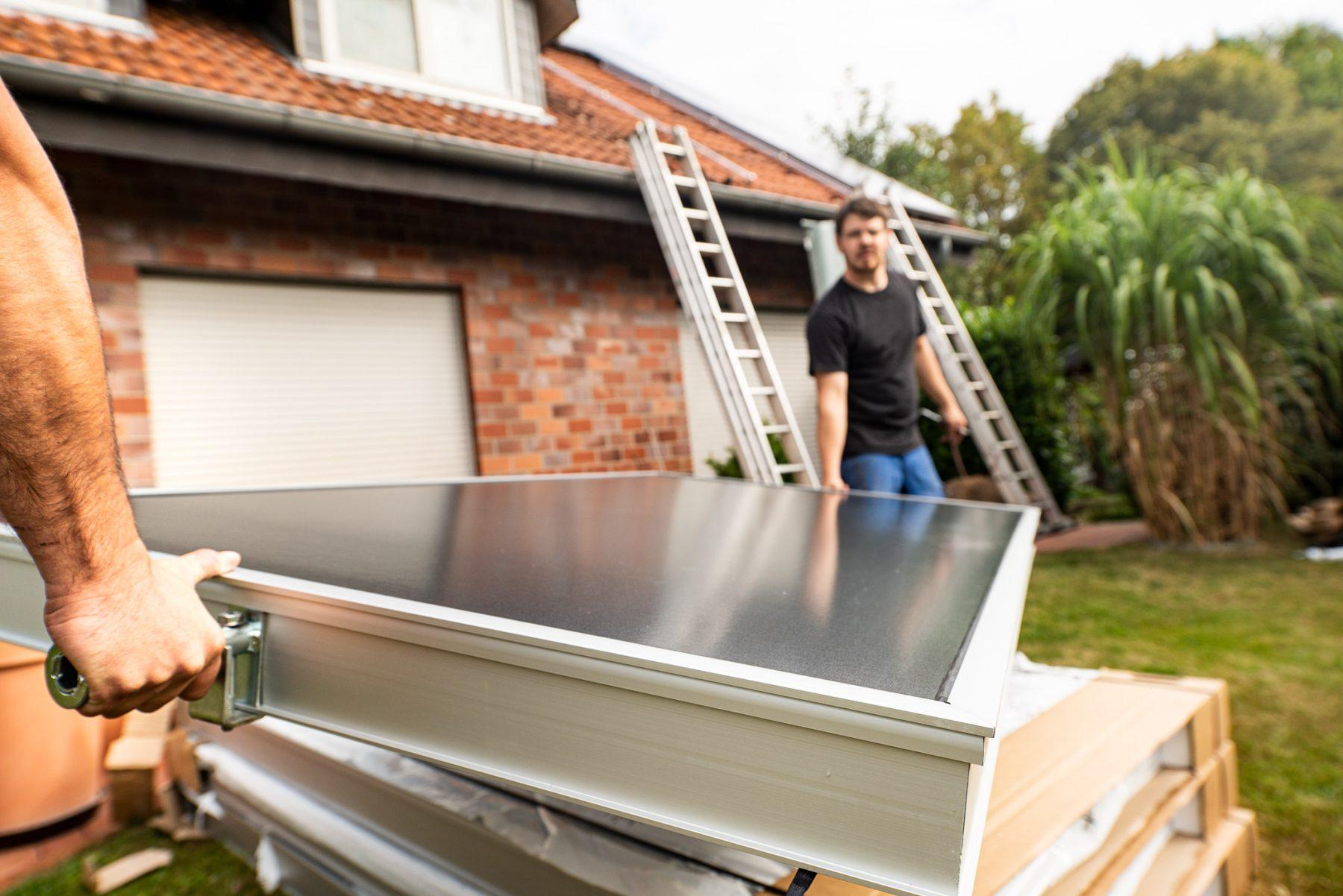 Kollektoren für eine Solarthermieanlage